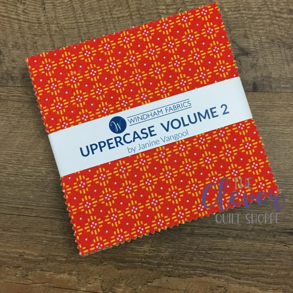 Charm Pack Squares, Windham, Uppercase Vol. 2, Janine Vangool, 42 pcs, Precut Fabric, Geometric, Floral, Small Print,