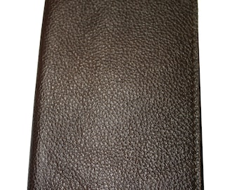 Chocolate Brown Leather Passport Cover - Sandali Accessories