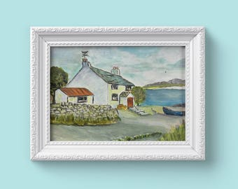 Irish Cottage by the Sea Painting