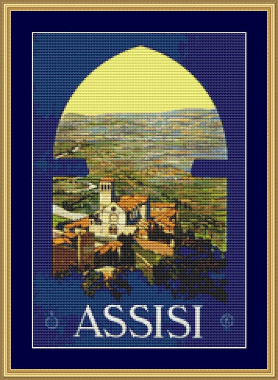 Assisi Cross Stitch Pattern /Digital PDF Files /Instant downloadable