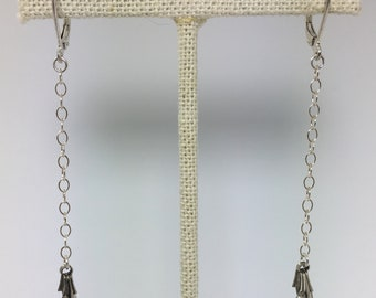 long sterling and crystal earrings