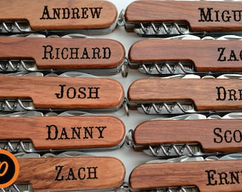 Set of 10, Personalized Knives, engraved knives, groomsmen gifts, wedding gifts, wedding party, best man, usher, multitool, multi tools