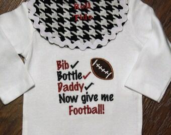 Baby shower gift, new baby gift, baby boy gift, Alabama, crimson tide, roll tide, football, bodysuit, baby boy clothes, daddy, baby boy