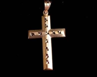New Italian Christian Cross 14k gold layer on .925