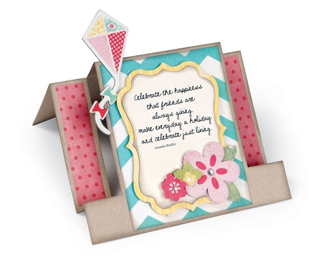 New! Sizzix Bigz XL Die - Card, Center Step by Lori Whitlock 659724