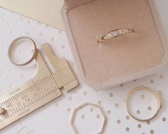 Unique vintage style engagement rings, delicate engagement ring, unique engagement and wedding ring, 14k gold wedding ring