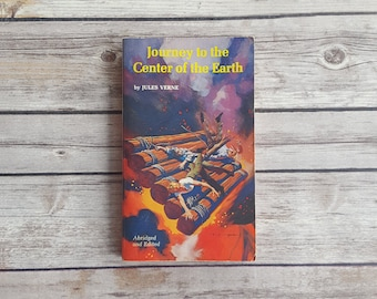 Journey To The Center Of The Earth Jules Verne 70s Sci Fi Book Abridged Science Fiction Classics For Teens Amazing Book Monsters SciFi Story