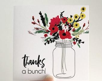 Thanks a Bunch Mini Card