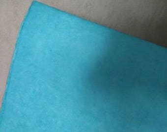 sheet of Nepalese paper 50 / 70cm light blue