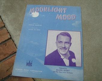 1942  vintage sheet music ( Moonlight Mood  )