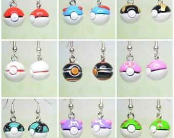 Pokemon Inspired Pokeball Earrings