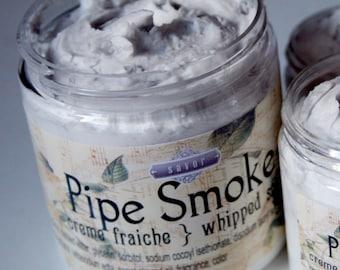 Whipped Soap for Men Pipe Smoke 8 oz Mini Creme Fraiche VEGAN