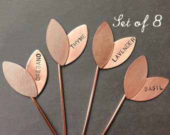 Large Sprout Garden Markers - Custom Set of 8 Markers