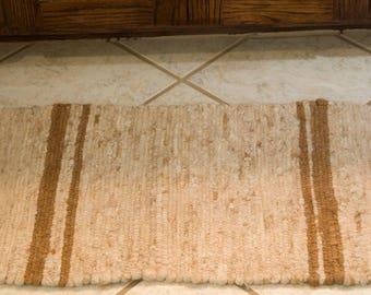 17x24 Handwoven Alpaca Bath Mat or Door Mat, Super Soft, All-Natural, Southwestern