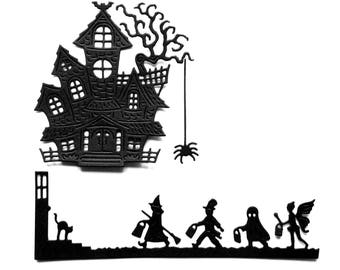 lot cuts halloween House border child scrapbooking embellishment die cut scrap album deco