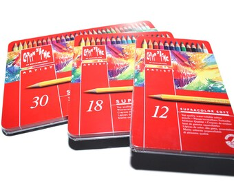 Caran d'Ache SUPRACOLOR 12 / 18 / 30 color assortment metal box set - Made in Switzerland - finest in the world!