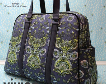 Swoon Patterns: Vivian Handbag & Traveler - PDF Bag Purse Travel Bag Sewing Pattern