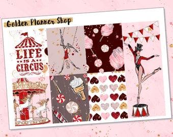 Circus Life Kit, Planner Stickers for Erin Condren Vertical Planner