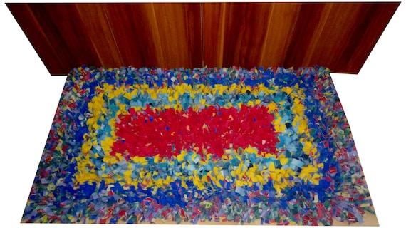 crochetragrug marketing handgekn pfter teppich einzelst ck aus stoffresten baumwolle. Black Bedroom Furniture Sets. Home Design Ideas