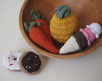 Triple Scoop Crocheted Ice Cream Cone