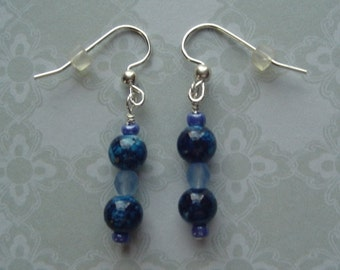 Glass Beaded Pierced Earrings
