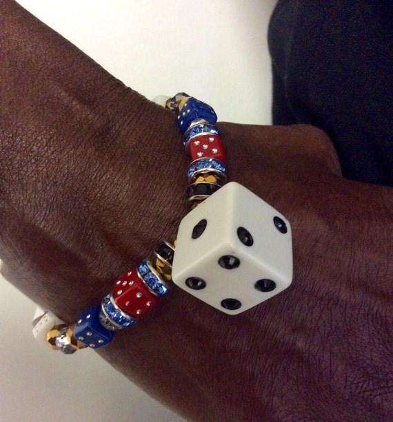 The Vegas Stretch Bracelet (Blue/Red)