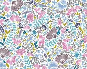 Organic cotton Crib sheets & Mini crib sheets including Nuna sena Lotus 4Moms BabyBjorn Bloom baby etc Floral purple blue gold flower white