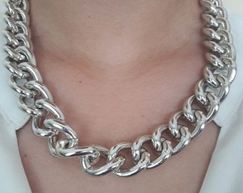 Sterling silver necklace chain, Silver color Necklace