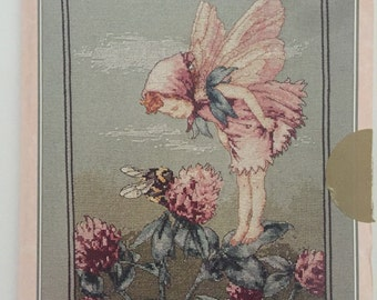 The Red Clover Fairy Cross Stitch Chart by DMC Cicely Mary Barker, Pattern, Folder