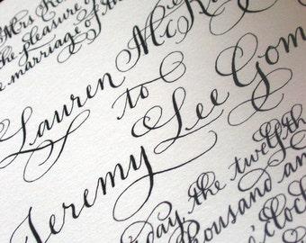 "Calligraphy Wedding Invitations Love No. 19 ""The Savoy"""
