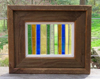 Frank Lloyd Wright Inspired Stained Glass