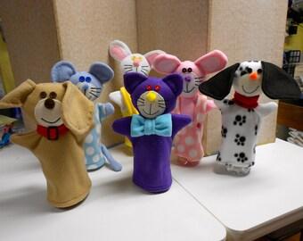 Fleece Animal Hand Puppets