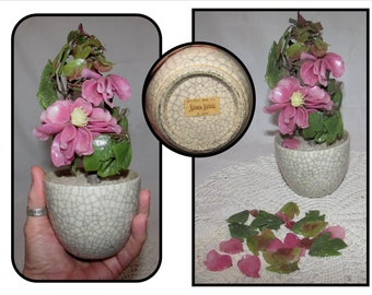 Vintage Potted Glass Flower Plant from Neiman Marcus, decorative