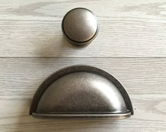 3 1 2 Gold Cup Pulls Drawer Pull Knobs Dresser Pull