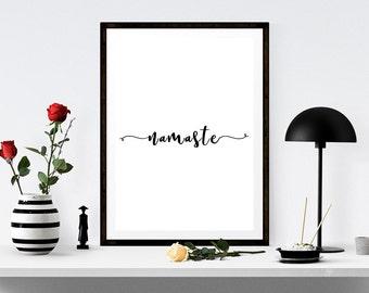 Superieur Namaste Quote Sign, Namaste Printable Art, Namaste Typography, Yoga Studio  Art, Namaste