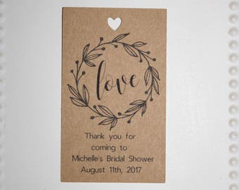 Bridal Shower Favor tag // Thank You Wedding // Engagement Party Favor Tag