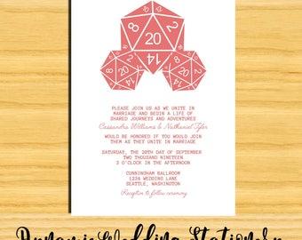 D20 Dice Digital DIY Printable Wedding Invite
