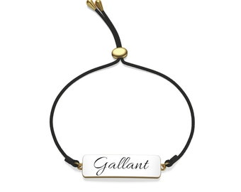 Cord Bracelet - Oval Pendant - Can Personalize With Your Name