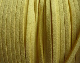 Set of 2 m yellow 3 mm suede cord