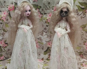 ООАК кукла монстр хай, Лагуна OOAK doll monster high, Laguna