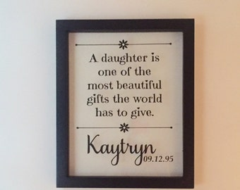 Personalized Picture Frame, Monogrammed Picture Frame, Name Sign, Name Plaque, Daughter, Birthday, Shower, Personalized Gift, Wedding Gift