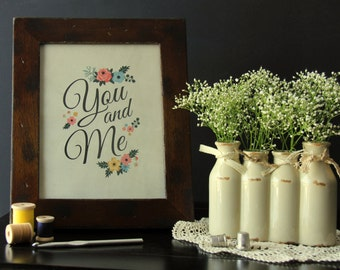 "8"" x 10"" Cardstock Print - You and Me from Fancy Pants"