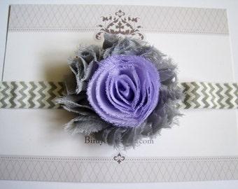 Gray and Lavender, Baby Headband, Baby Girl Headbands, Infant Headbands, Newborn Headbands, Girl Headbands, Toddler Headbands, Baby Bow