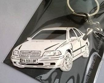 Volvo, Volvo keychain, Volvo 240, Volvo S40, Personalized Key Chain, Custom Keychain, personalised keyring, birthday gift