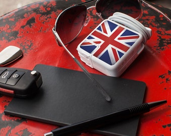 Multipack Charger Decals for iPhone, iPad & Apple Laptop - Union Jack/British Flag- Great tech accessory gift for Mac users and Anglophiles
