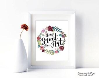 Printable art, instant download, digital print, digital download, quote art, Bible verse print, typography print, wall art