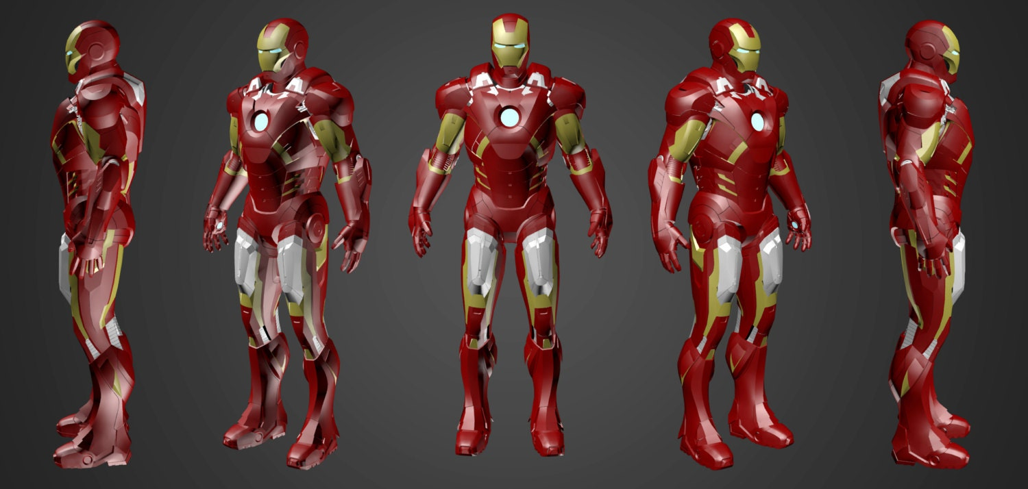 iron man mk vii suit 3d model screen accurate