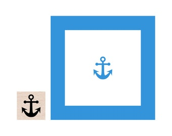 Mini Anchor Rubber Stamp
