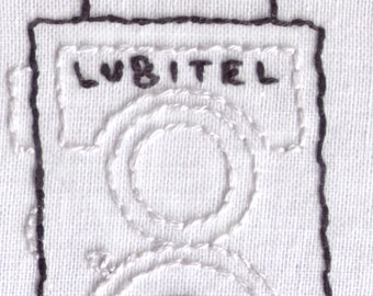 Camera Hand Embroidery Pattern, Vintage, Lubitel, Medium Format, Twin Lens, PDF