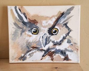 "Owl Painting ""Ollie"""
